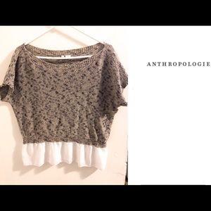 Anthropologie Moth Short Sleeved Sweater